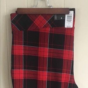 Torrid Plaid Crop Pants Plus Sz 4 New